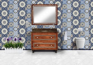 karanfil  ahşap banyo dolabı