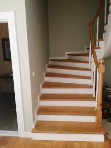 ahşap merdiven meşe