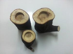 Ağaç Kütük Mumluk (1)